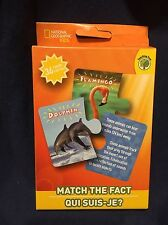 National Geographic Kids Zoo Animal Puzzle Match Fact Learn Flash Card Game New
