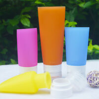 Empty Silicone Travel Bottle Lotion Shampoo Cosmetic Tube Container Portable New
