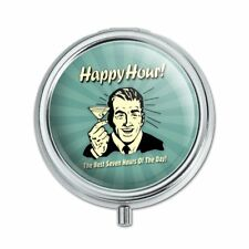 Happy Hour Best Seven Hours of the Day Funny Humor Pill Case Trinket Gift Box