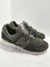 NEW BALANCE 574 green/pink /gold/White Trainer Sneakers woman Sz 11 WL574FSD