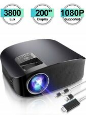 """Projector HD Video Projector 3800L Outdoor Movie Projector, 200"""" Home Th"""