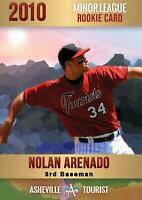 5 - NOLAN ARENADO 2010 FIRST GOLD PLATINUM MINOR LEAGUE ROOKIE CARD RARE 2,000.