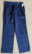 MWT Tommy Hilfiger Premium Navy Cotton Flat Front Relaxed Dress Pants $90