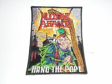 NUCLEAR ASSAULT HANG THE POPE EMBROIDERED PATCH