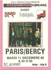 RARE / TICKET DE CONCERT - SCORPIONS A PARIS ( FRANCE ) 1990 / COMME NEUF STUB