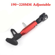 Black/Red Motorcycle Adjustable Side Holder Foot Kick Stand Support Fall Protect