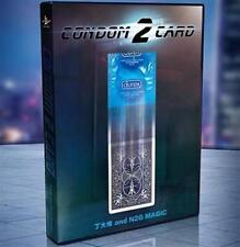 Condom to Card (Blue) by N2G - Trick - Magic Tricks
