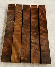 Burled Highly Figured Walnut Wood Turning Pen Blanks 5 pcs.