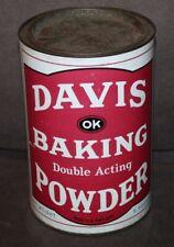 Vintage JUMBO DAVIS DOUBLE ACTING BAKING POWDER Tin