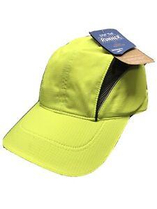 BROOKS Running NightLife Running Cap/Hat - Yellow Black Silver - NWT