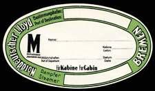 Germany Baggage Label - Norddeutscher Lloyd Steamship Bremen
