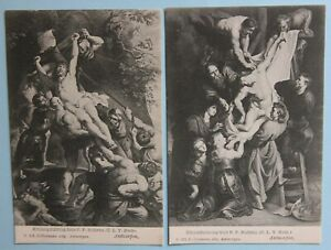 Early 1900's 2x Peter Paul Rubens Artist Antwerp Postcard Carte Postale Belgium