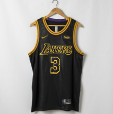 Men's Los Angeles Lakers Anthony Davis #3 Black Swingman Jersey Mamba Edition