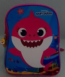 Kids Baby Shark Backpack Multicolour Pink