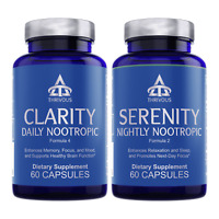 Thrivous Clarity and Serenity Stack: Nootropic Brain & Sleep Supplements