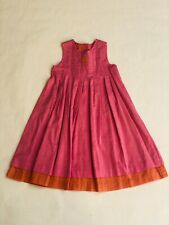Tartine et Chocolat Girls Pink & Orange 100% Cotton Summer Sleevless Dress - 4