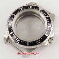New 42mm Stainless Steel Watch Case with Bezel Fit ETA 2836 MIYOTA Movement