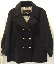 $650 COACH Women's Wool Double Breasted CHARCOAL GRAY Coat sz 14 Misses NEW!!