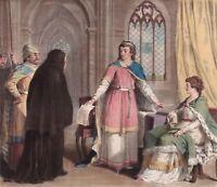 Gravure XVIIIe Suger Abbé De Saint Denis Régent De France Louis VII Croisades