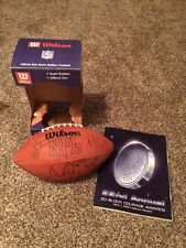 Rare,1999 Autographed Football For Charity Drew Bledsoe Mike Utley & More
