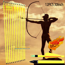 12PK 30Inch Archery Yellow Shaft Carbon Arrows Bows For Compound Bow Spine 600