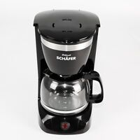 Kaffeemaschine Schwarz Filterkaffee Glaskanne 10 Tassen Coffee Maschine