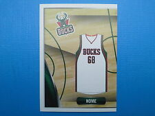 2014-15 Panini NBA Stickers Collection N.122 Home Jersey Milwaukee Bucks