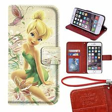 "iPhone 7 plus 5.5"" wallet Case, Onelee - Tinker Bell Premium PU Leather Case"
