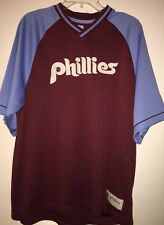 PHILADELPHIA PHILLIES BASEBALL JERSEY SIZE L MAJESTIC COOPERSTOWN COLLECTION