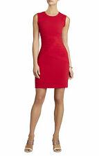 BCBGMAXAZARIA $248 Blackeley Ruched Dress Size 12 L Ruby Red