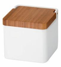 Tescoma Vorratsdose mit Deckel aus Bambus Vorratsbehälter Vorratsbox weiß
