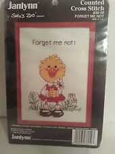 Forget Me Not / Suzys Zoo / Janlynn Counted Cross Stitch Kit 1986 / New