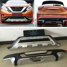 PP 2X Front+Rear Bumper Grard Assy Protector Board Refit For Nissan Murano 2015
