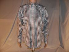BROOKS BROTHERS 1818 SLIM FIT Green/Red PLAID ORIGINAL POLO  SHIRT LARGE