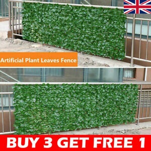 Artificial Faux Ivy Leaf Hedge Panels Roll Privacy Screening  Fence Decor