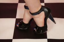 Black Blue & silver prism heel open toe jewelled heels Topshop Premium Size 6
