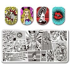 BORN PRETTY Nail Art Stamp Plate Image Template Fashion Girl Design BPL-62
