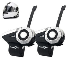 1500m T-Rex Intercom Motorcycle Helmet Bluetooth 8-Way Interphone Headset FM x2