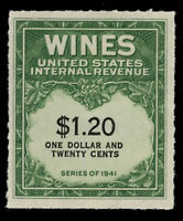 SCOTT #RE146 - $1.20 WINE STAMP - F-VF UNUSED