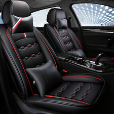 Luxury Edition 100% PU Leather Car SUV Seat Cover 5-Seats all Cushion w/Headest