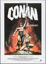 CONAN THE BARBARIAN, ARNOLD Schwarzenegger 1982 Italian, VF- Renato Casaro art