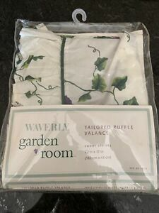 """Retired Waverly SWEET VIOLETS  Tailored  72 X 17"""" Valance New in Package"""