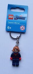 LEGO Captain Marvel Keychain/Keyring - Marvel/DC Superheroes 854064