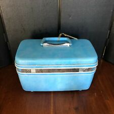 Vintage Samsonite Silhouette light blue travel Make-Up case