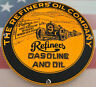 VINTAGE REFINERS GASOLINE PORCELAIN SIGN GAS STATION MOTOR OIL PUMP PLATE