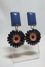 CG4066...EARRINGS WITH CLOISONNE FLOWERS - FREE UK P&P