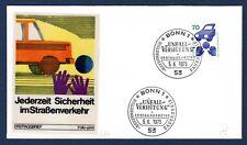 1975 Germany SC#1082 Traffic Safety FDC, Folio Print Cachet, EC, UA, OF.