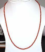 "Orange Zircon Gemstone 3mm Rondelle Faceted Beads 12-45"" Strand Necklace PLM5558"