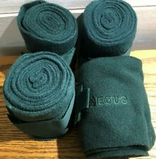 New Eous Fleece Polo Wraps - Full Size - Hunter Green - Pack of 4 Wraps