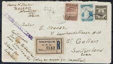 Mexiko saubere MiF auf R Brief aus Monterrey in die Schweiz gelaufen 1945